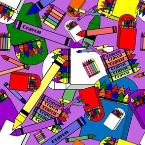 Crayon Fabric Design