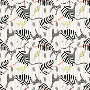 Baby Nursery Pattern Black and white NJP/BW D100