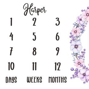 milestone violet - Harper