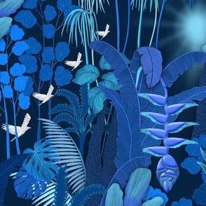 blue tropical rainforest