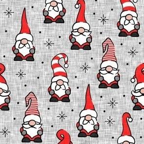 Christmas Gnomes - grey - LAD20