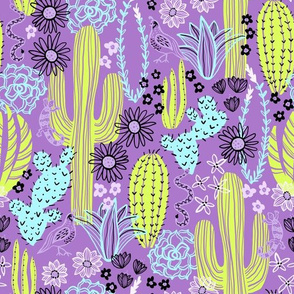 Sonoran Landscape (Lime and Lilac)