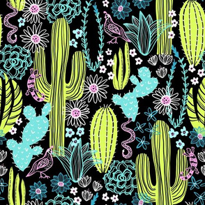 Sonoran Landscape (Lime and Mint)