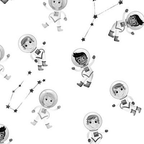 Black and White Astronauts
