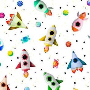 Watercolor Rockets