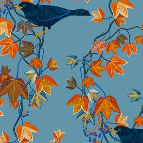 Autumn vines-BLUE
