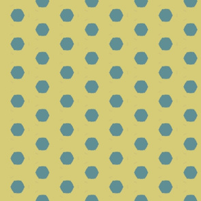 Polka dot yellow and teal