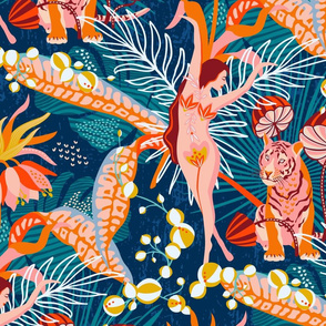 Tropical blossom dance / Wallpaper