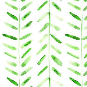 Jade green watercolor abstract geometrical pattern for modern home decor bedding nursery painted brush strokes herringbone