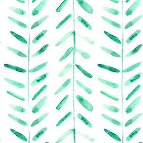 Jade green watercolor abstract geometrical pattern for modern home decor bedding nursery painted brush strokes herringbone p323