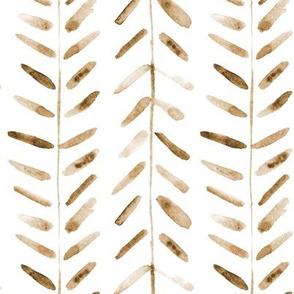 Earthy boho watercolor abstract geometrical pattern for modern home decor bedding nursery painted brush strokes herringbone