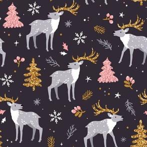 Christmas reindeers. Medium scale