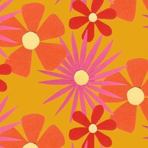 60s Big Bright Flowers
