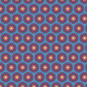 On Order - hexagonal patterns with central spheres