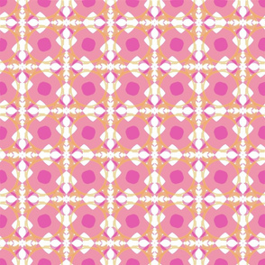 Fleur de lys Treillis Abstract - Pink variation