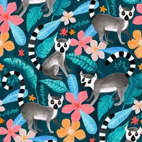 Gouache Lemur Land