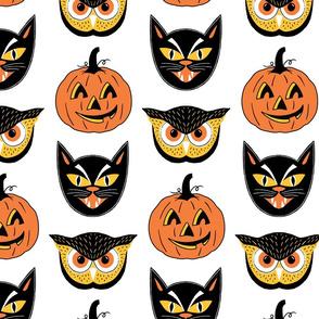 Vintage Halloween Face Masks