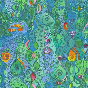 tropical flora surreal dream