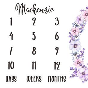 milestone violet - Mackenzie