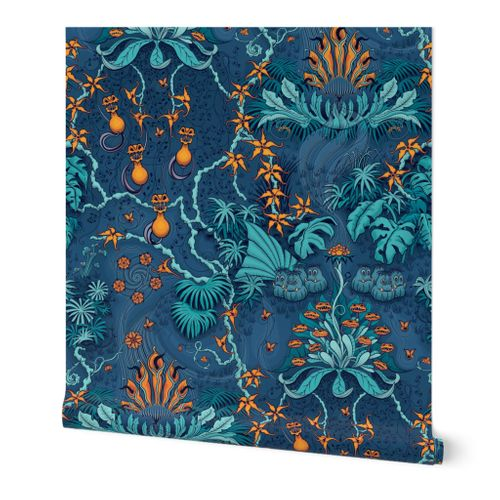 ★ JUNGLE FREAKS ★ Weird Carnivorous Climbing plants / Large scale / Collection : It's a Jungle Out There – Savage Hawaiian Prints