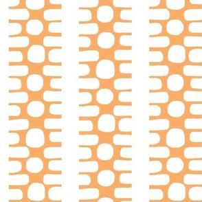 Bumpy Dotty Stripe (tangerine & white)