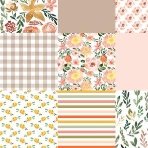 harvest florals cheater quilt