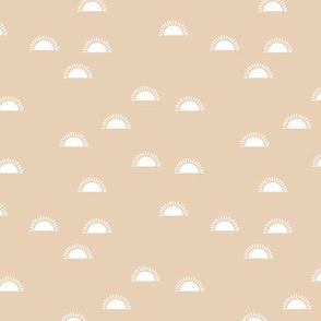 Little sunshine morning minimal trend abstract kids nursery design seventies  beige sand SMALL