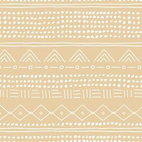Minimal boho mudcloth bohemian mayan abstract indian summer love aztec nursery design soft butter yellow beige