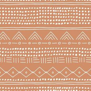 Minimal boho mudcloth bohemian mayan abstract indian summer love aztec nursery design soft seventies retro orange