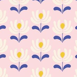 Retro Folk Flowers in pink