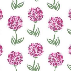 fuschia crinkle pattern on white