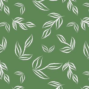 tossed leaves fern