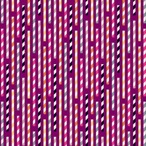 straws - plum