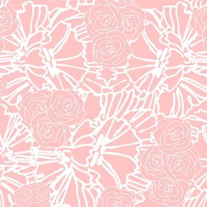 peach crinkle and rose print