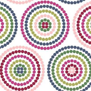 mosaic circles on white