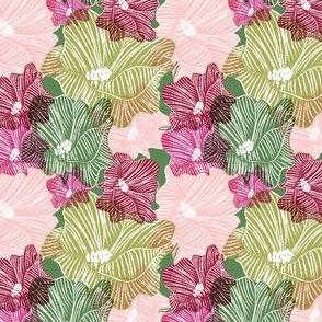 CHALK FLOWERS on fern