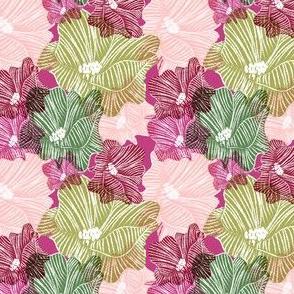 CHALK FLOWERS on fuschia