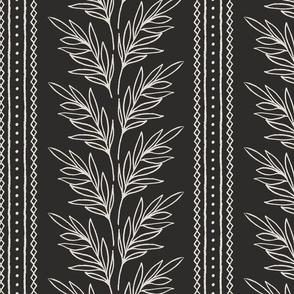 Leafy Stripe B&W