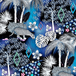 Surreal Jungle (Blue)