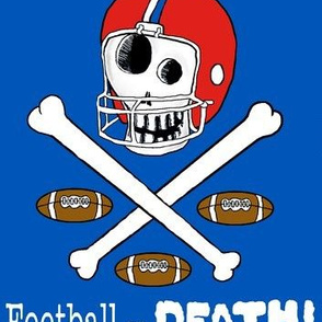 football or death! large scale, red white and blue
