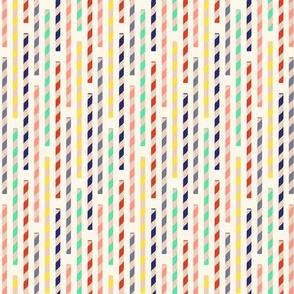 straws - creme