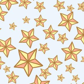 Dark Golden Kawaii Stars