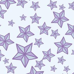 Purple Kawaii Stars