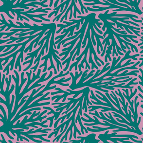 Coral Waves in Teal/Lilac