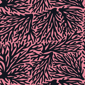 Coral Wave in Black/Pink
