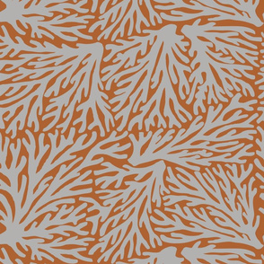 Coral Waves in Gray/Rust