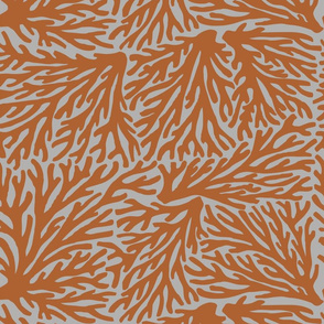 Coral Wave in Rust/Gray