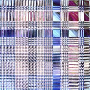 Abstract Ice:  Icy Plaid