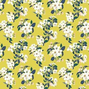 Serene Garden Apple Bloom Yellow small scale