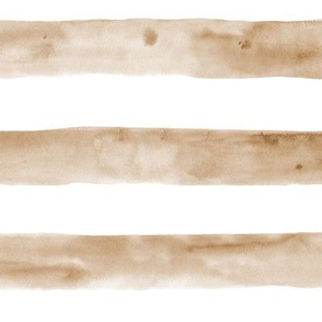 Earthy boho watercolor stripes - neutral painted horizontal stripes for modern home decor, bedding